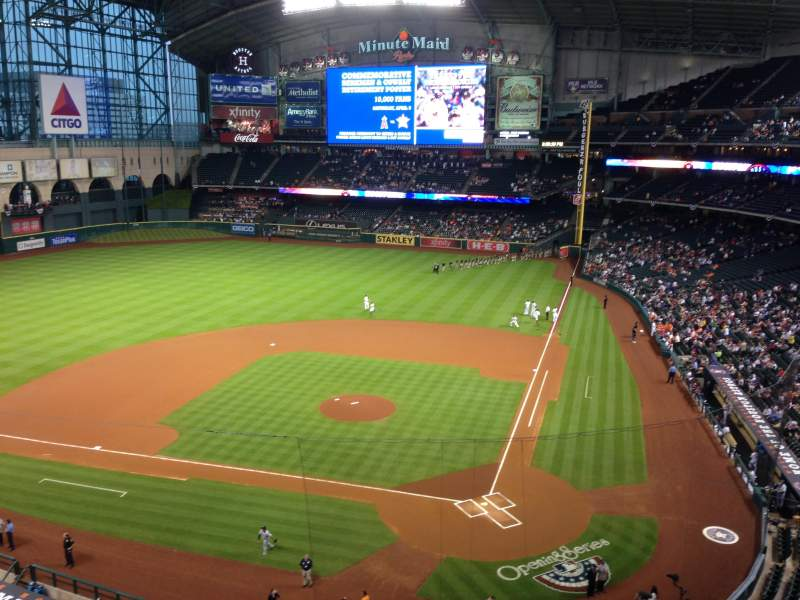 Seating view for Minute Maid Park Section 316 Row 1 Seat 8
