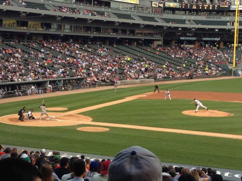 Seating view for Guaranteed Rate Field Section 124 Row 29 Seat 6