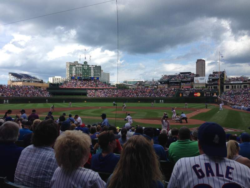 Seating view for Wrigley Field Section 117 Row 3 Seat 6