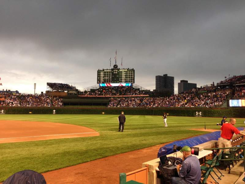 Seating view for Wrigley Field Section 31 Row 1 Seat 3