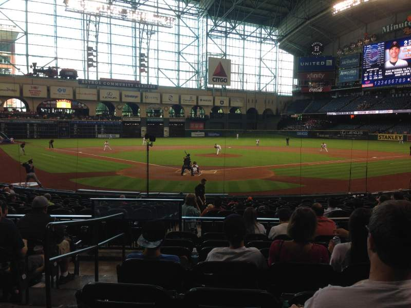 Seating view for Minute Maid Park Section 120 Row 19 Seat 2