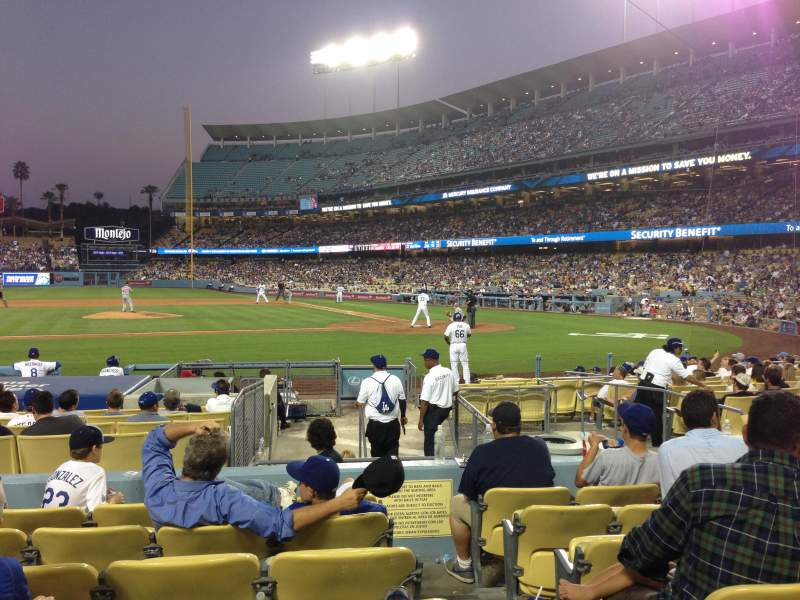 Seating view for Dodger Stadium Section 17FD Row G Seat 1