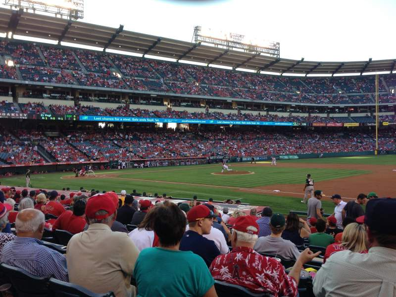 Seating view for Angel Stadium Section F126 Row P Seat 18