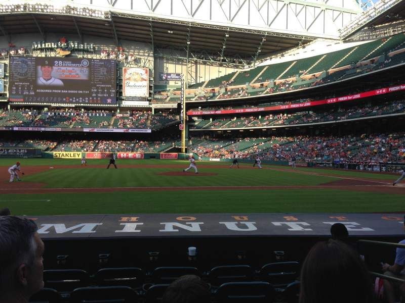 Seating view for Minute Maid Park Section 113 Row 10 Seat 14