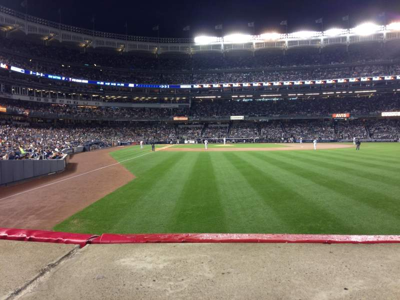 Seating view for Yankee Stadium Section 106 Row 10 Seat 7