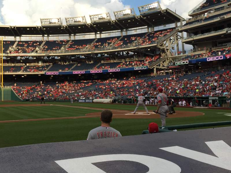 Seating view for Nationals Park Section 117 Row D Seat 9