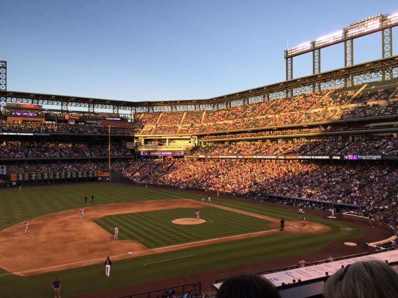 Seating view for Coors Field Section 241 Row 2 Seat 9