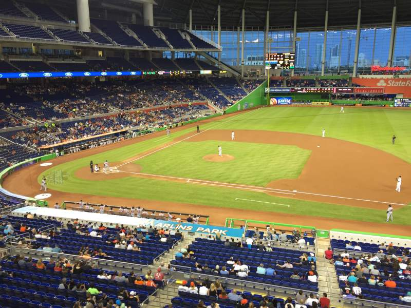 Seating view for Marlins Park Section 209 Row 1 Seat 3