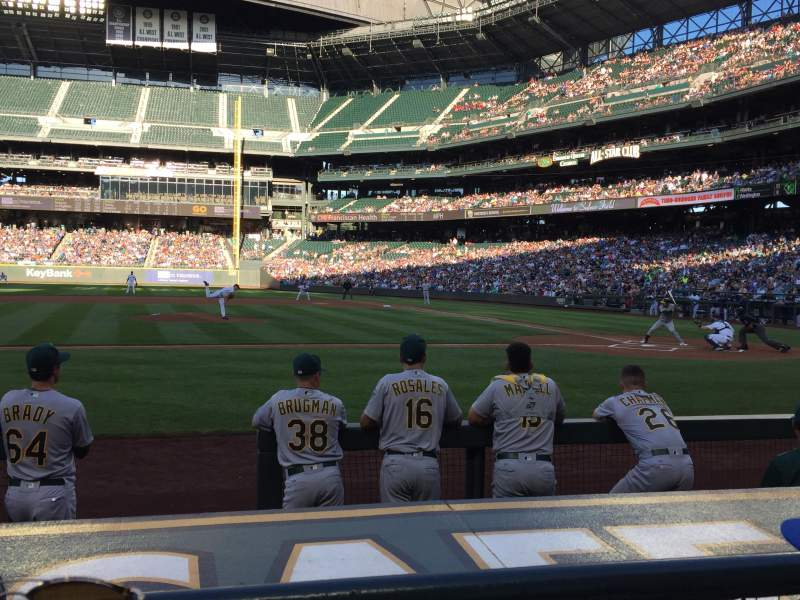 Seating view for T-Mobile Park Section 137 Row 6 Seat 9