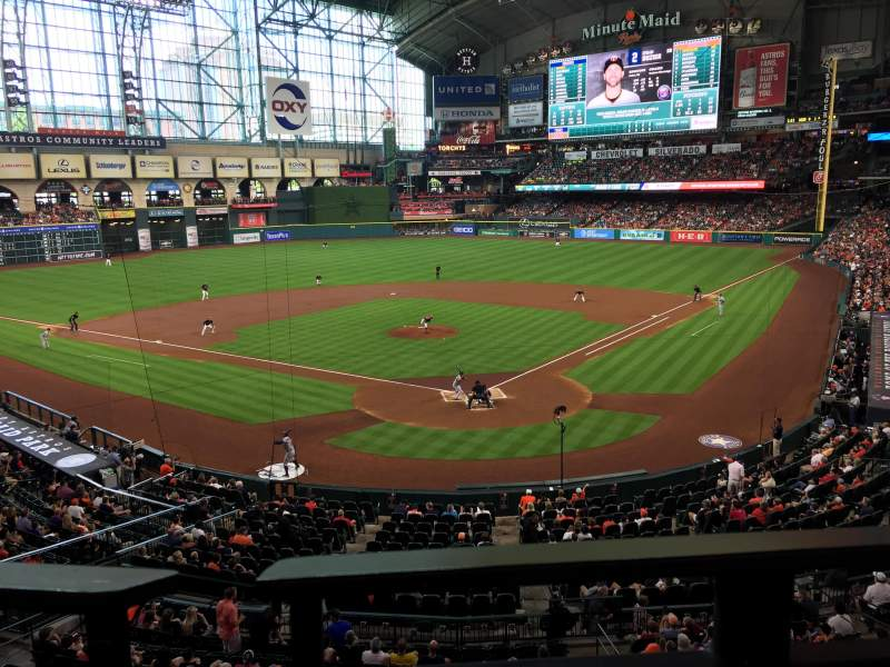 Seating view for Minute Maid Park Section 218 Row 1 Seat 8