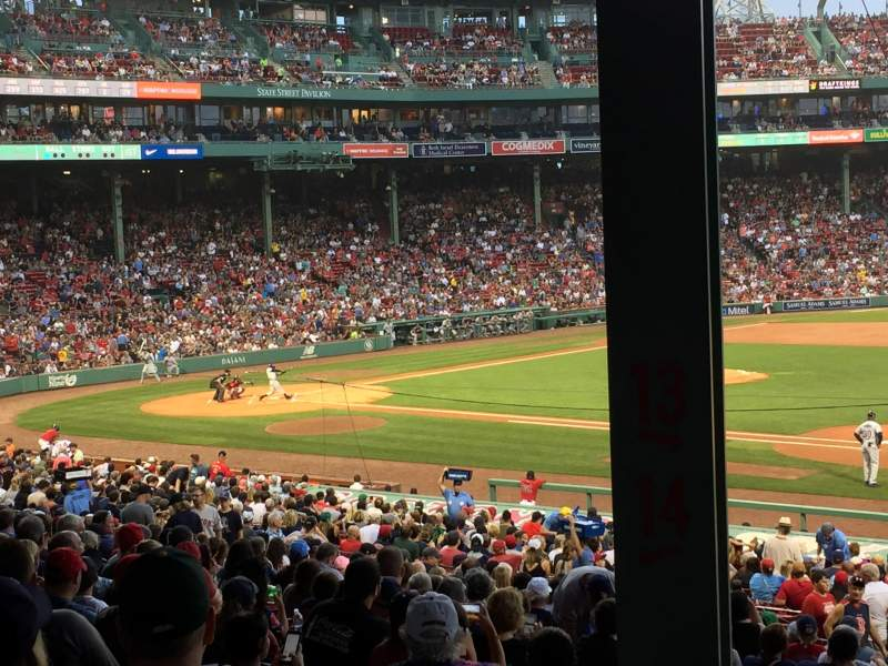 Seating view for Fenway Park Section Grandstand 13 Row 6 Seat 16