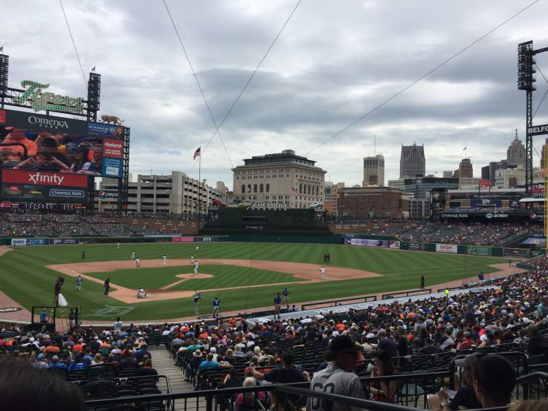 Seating view for Comerica Park Section 126A Row D Seat 2