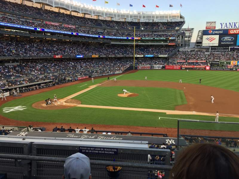 Seating view for Yankee Stadium Section 216 Row 3 Seat 1