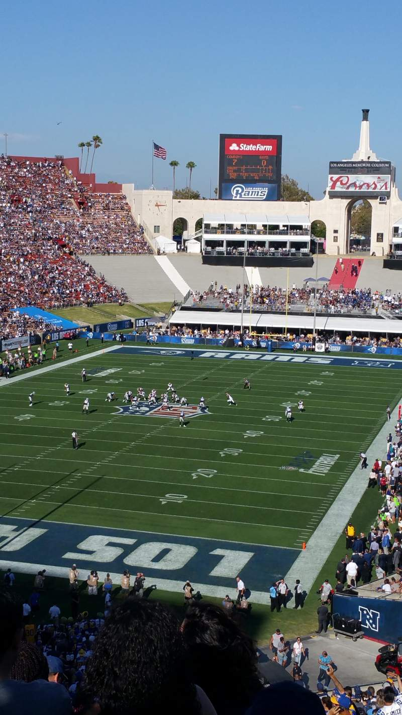Seating view for Los Angeles Memorial Coliseum Section 13H Row 66 Seat 101