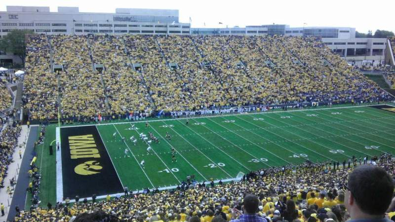 Seating view for Kinnick Stadium Section 130 Row 70 Seat 26