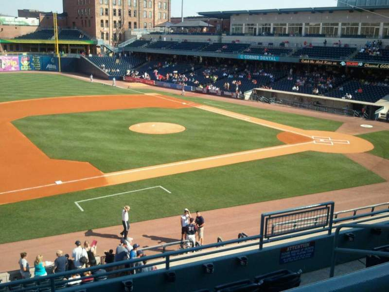 Seating view for Fifth Third Field Section 203 Row E Seat 3