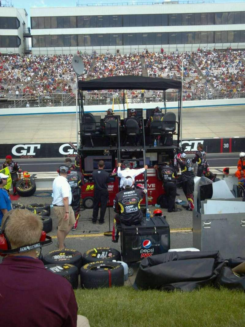 Seating view for Dover International Speedway Section pit