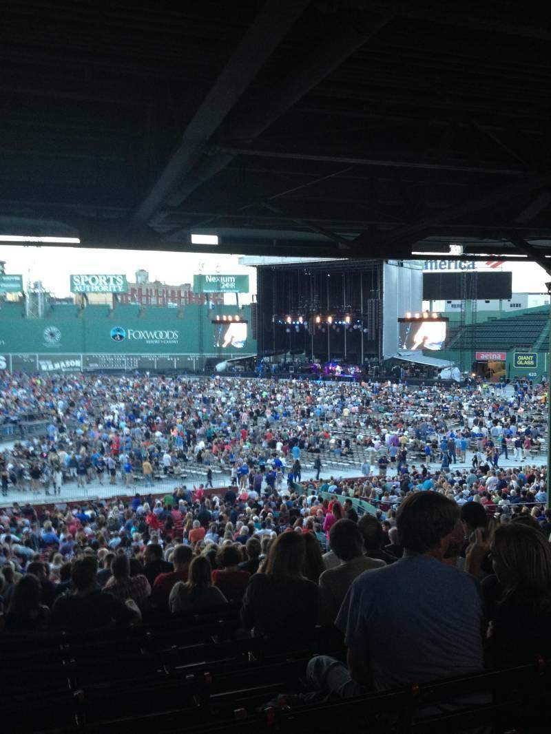 Seating view for Fenway Park Section Grandstand 12