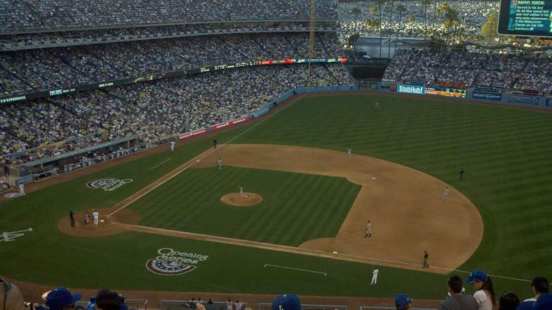 Seating view for Dodger Stadium Section 22RS Row P Seat 17