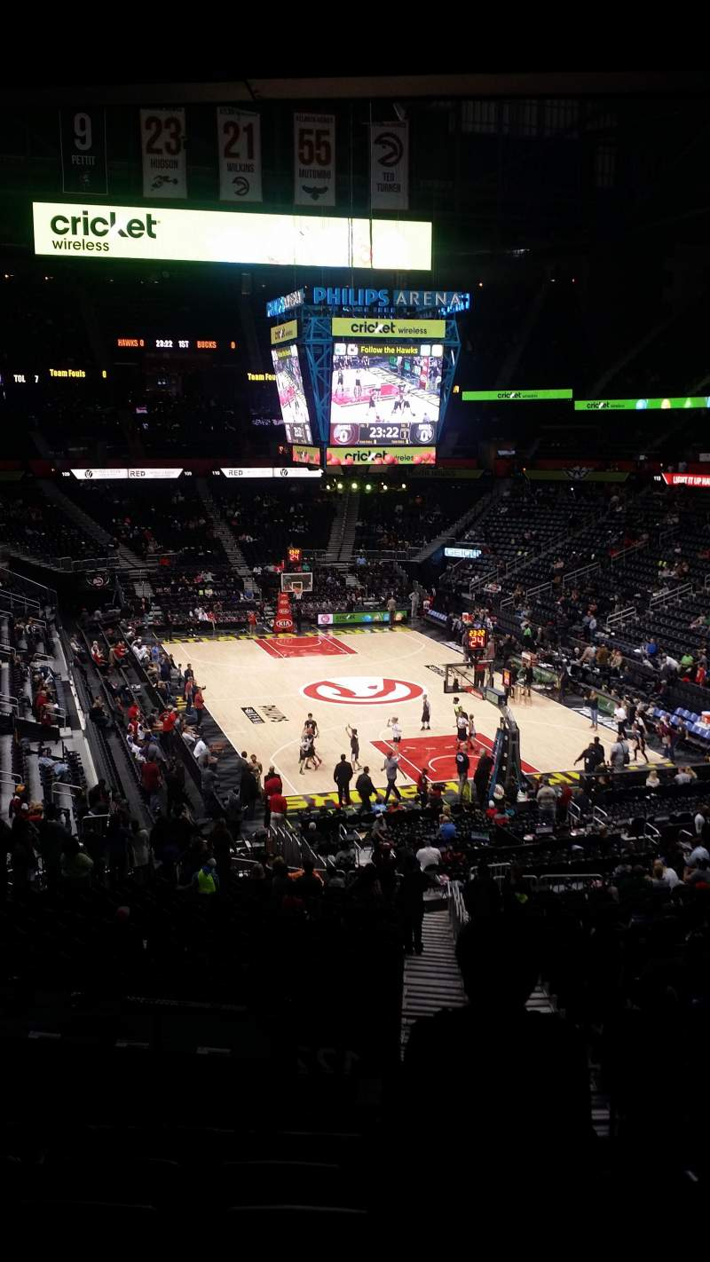 Seating view for Philips Arena Section 221 Row G Seat 3-4