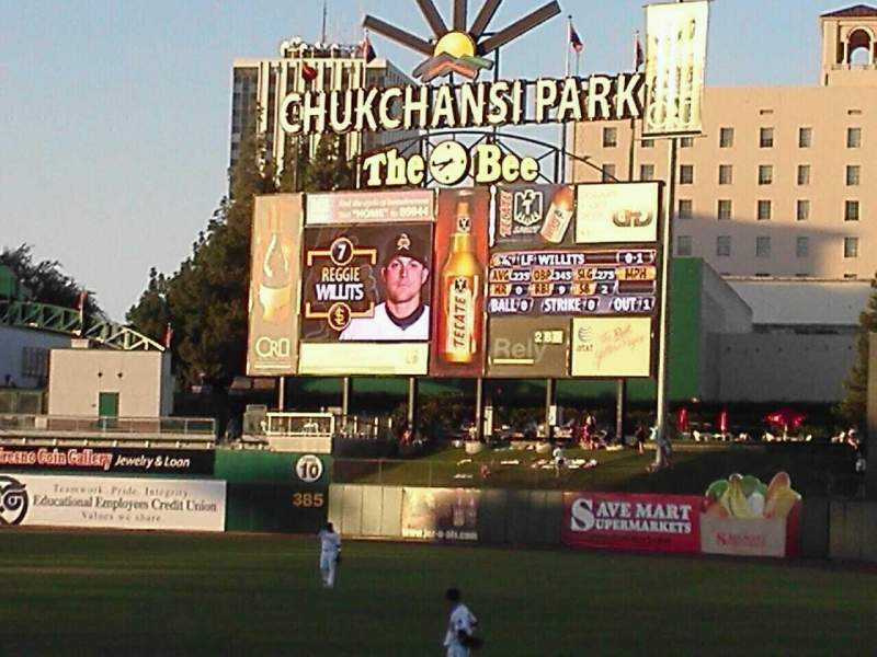 Seating view for Chukchansi Park Section 126 Row 11 Seat 11