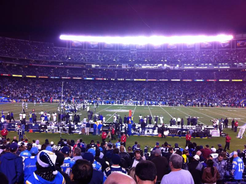 Seating view for Qualcomm Stadium Section F7 Row 23 Seat 3