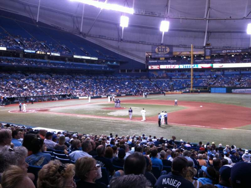 Seating view for Tropicana Field Section 124 Row CC Seat 3