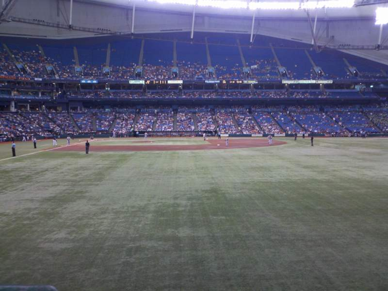 Seating view for Tropicana Field Section 144 Row U Seat 2