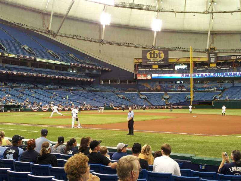 Seating view for Tropicana Field