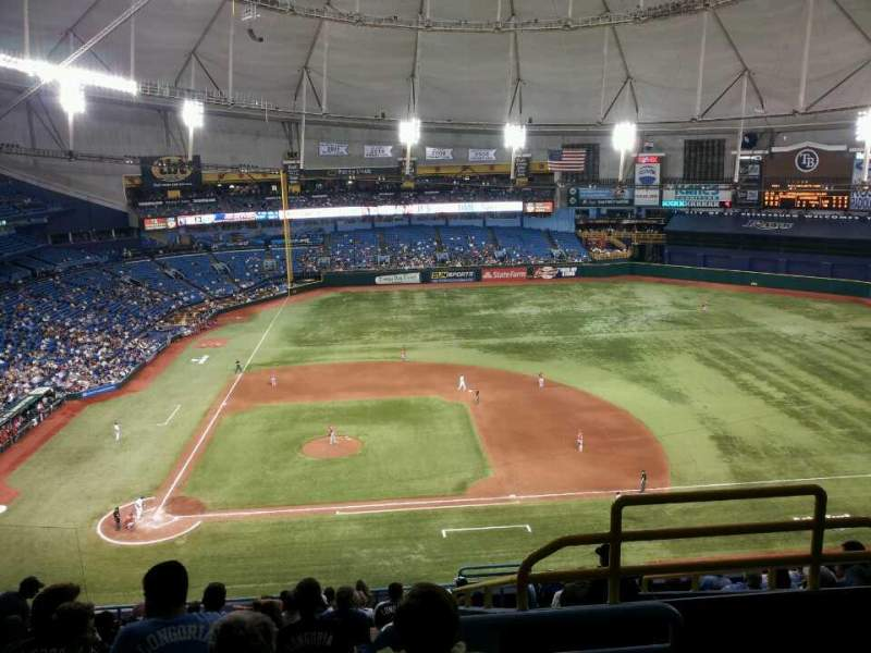 Seating view for Tropicana Field Section 310