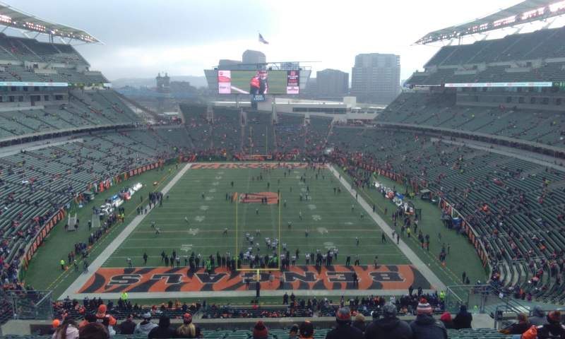 Seating view for Paul Brown Stadium Section 226 Row 29 Seat 14