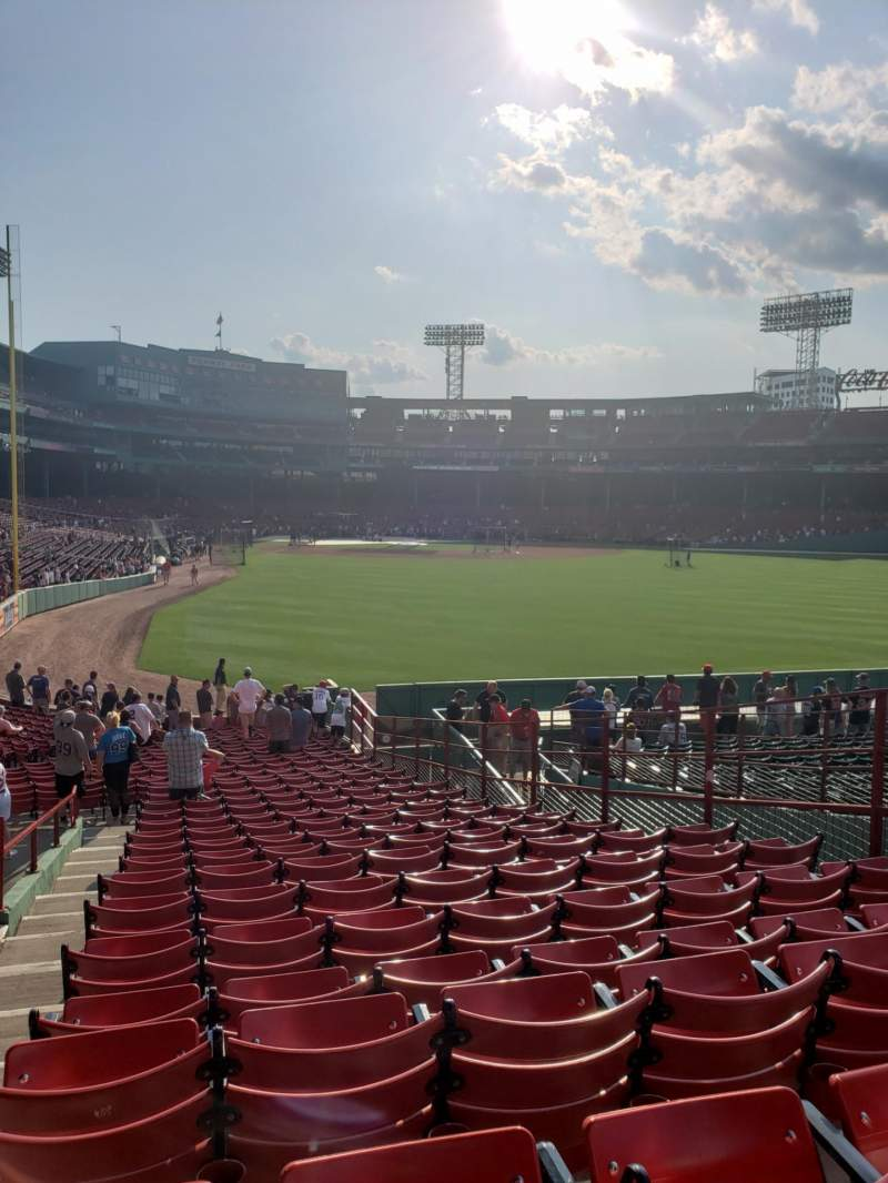 Seating view for Fenway Park Section Grandstand 1 Row 1 Seat 8
