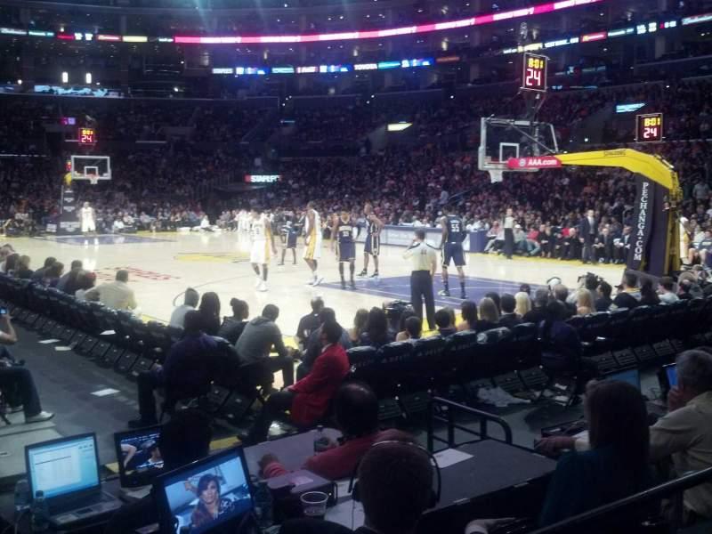 Seating view for Staples Center Section 108 Row 3 Seat 13