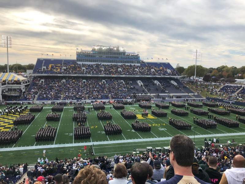 Seating view for Navy-Marine Corps Memorial Stadium Section 131 Row 9 Seat 19