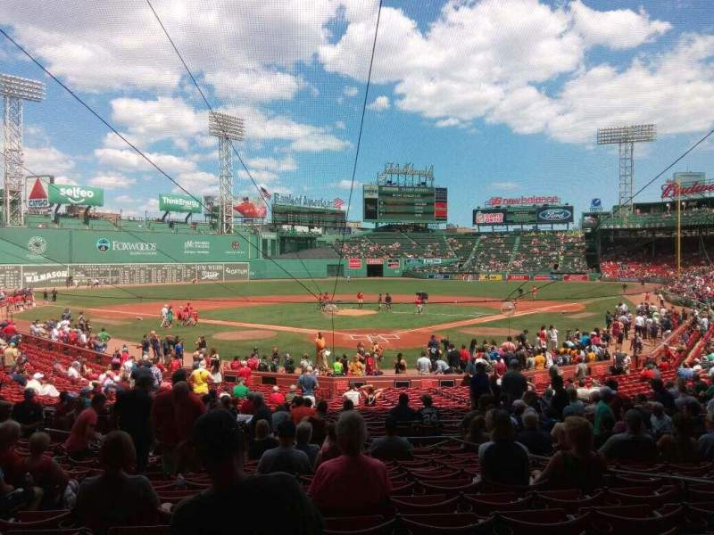 Fenway Park, section: Loge Box 132, row: mm, seat: 5