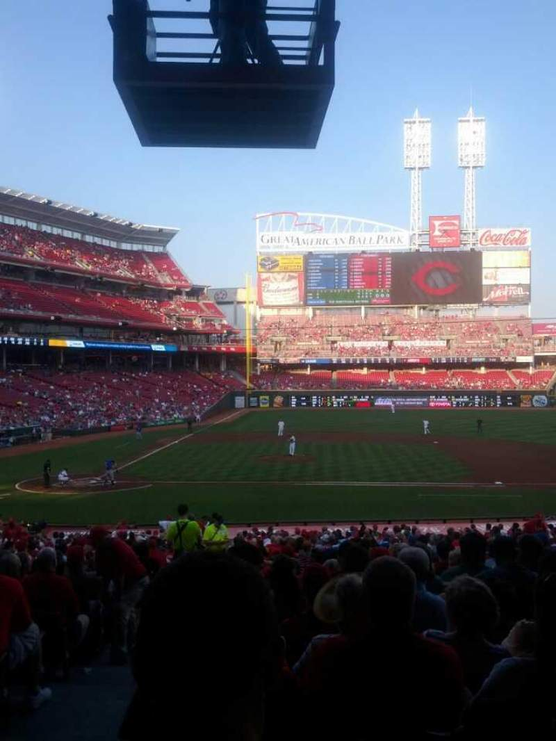 Seating view for Great American Ball Park Section 129 Row II Seat 14