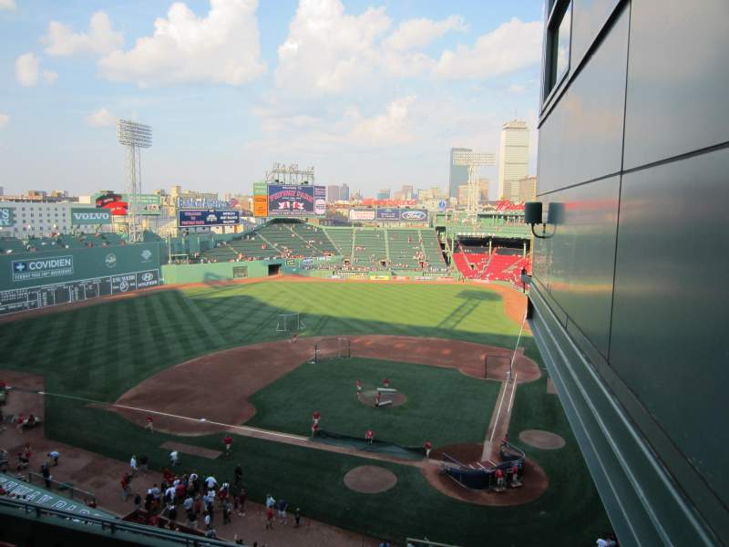 Seating view for Fenway Park Section State Street Pavilion Club Row 1 Seat 1