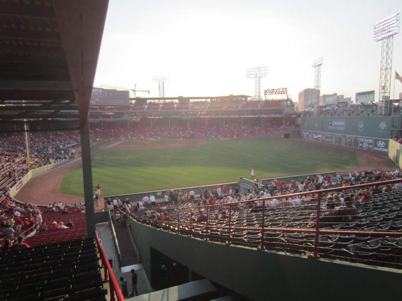 Seating view for Fenway Park Section Grandstand 1 Row 16 Seat 1