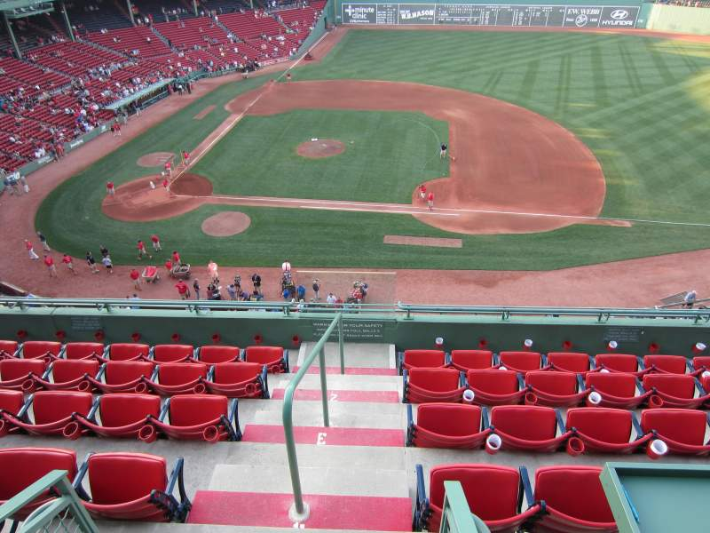 Seating view for Fenway Park Section Pavilion Box 5 Row A Seat 1