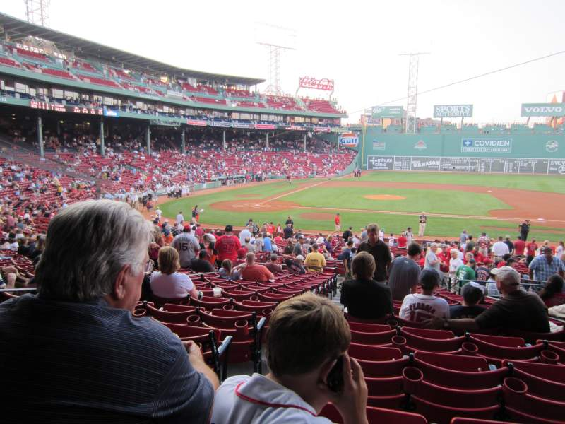 Seating view for Fenway Park Section Infield Grandstand 16 Row 2 Seat 10