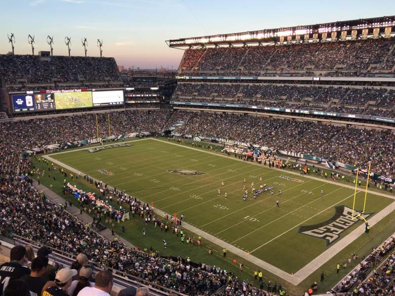 Seating view for Lincoln Financial Field Section 207 Row 5 Seat 10