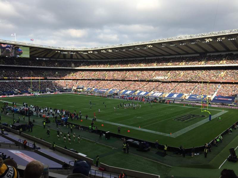Seating view for Twickenham Stadium Section M1 Row 54 Seat 384