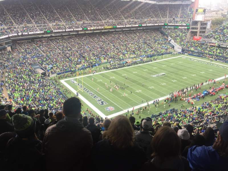 Seating view for CenturyLink Field Section 316 Row DD Seat 18