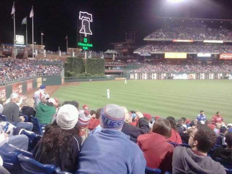 Seating view for Citizens Bank Park Section 138 Row 27 Seat 9