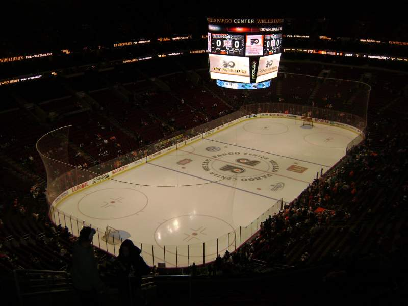 Seating view for Wells Fargo Center Section 221a Row 14 Seat 2