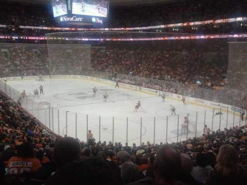 Seating view for Wells Fargo Center Section 117 Row 24 Seat 14