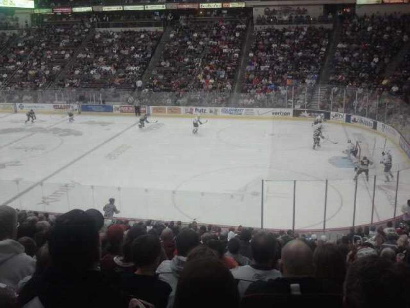 Seating view for Giant Center Section 122 Row V Seat 8