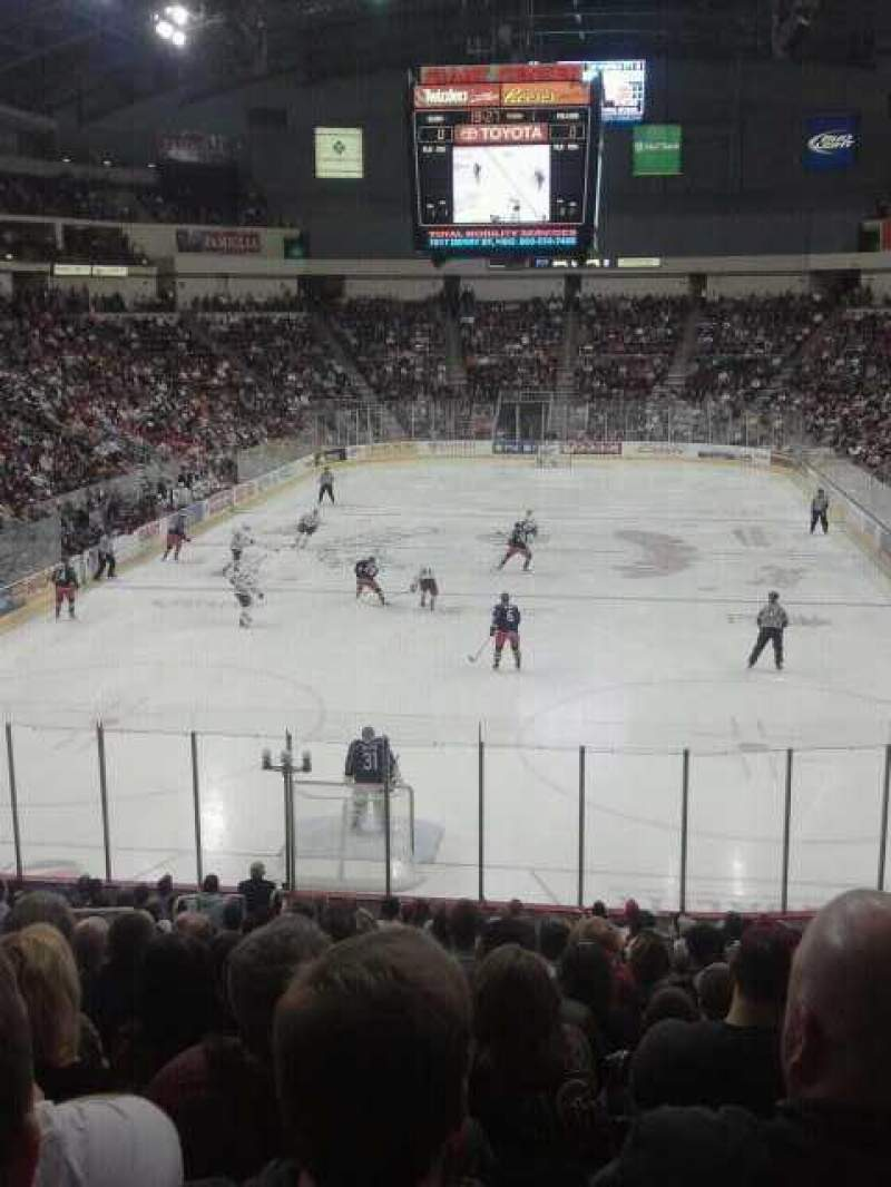 Seating view for Giant Center Section 101 Row T Seat 8