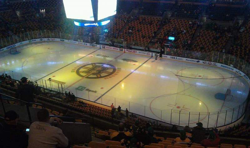 Seating view for TD Garden Section Bal 313 Row 12 Seat 15