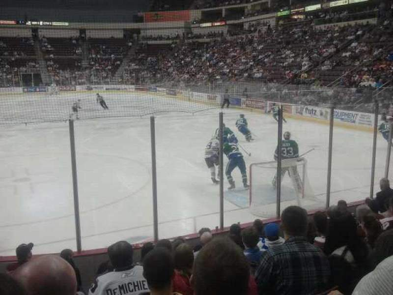 Seating view for Giant Center Section 126 Row H Seat 14